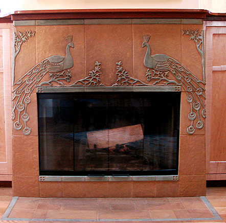Peacock Fireplace